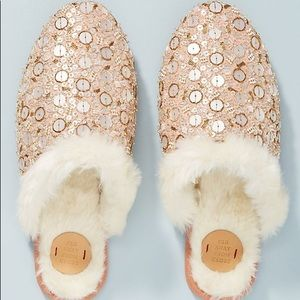 Far Away From Close Champagne Slipper Slides